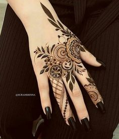 Arm and Hand Henna Tattoos . Arm and Hand Henna Tattoos . Modern Henna Designs, Indian Henna Designs, Finger Henna Designs, Beautiful Henna Designs, Henna Tattoo Designs, Beautiful Mehndi, Khafif Mehndi Design, Mehndi Designs 2018, Mehndi Design Pictures