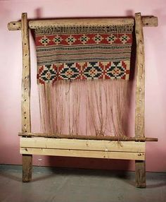 *The Saami Vertical Loom - click through to the blog, there's several videos of her working on her loom. Excellent source.