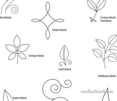 Embroidery practice patterns