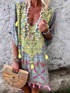 9f96a06b0ab4 2019 Summer Dresses Clothing Printed Casual Summer Shift Dresses-Mostata  Boho Summer Dresses