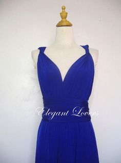 9cd45a34ec7 Bridesmaid Dress Wedding Infinity Wrap Convertible Evening Cocktail Party  Royal Blue Long Maxi Elegant Prom Custom Made Plus Size Dresses
