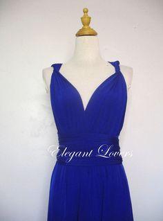 Royal Blue Wedding Dress Bridesmaid Dress by Elegantlovers on Etsy, $79.90