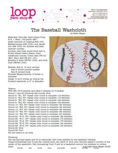 Brewers Baseball Washcloth ~ free pattern