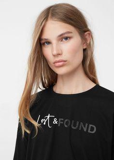 Contrasting t-shirt - T-shirts for Woman | MANGO United Kingdom