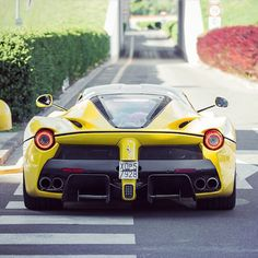 Ferrari LaFerrari painted in Giallo Modena Photo taken by: @philippluecke on Instagram