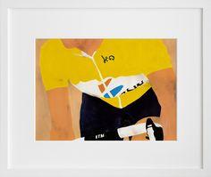 "Le Tour print by Yuji Yamada ~ $50 for 11""x14"" via 20x200.com"