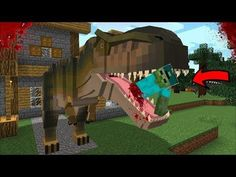 MARK FRIENDLY ZOMBIE GETS ATTACKED BY A GIANT DINOSAUR MOD !! PROTECT ZOMBIE HOUSE !! Minecraft Flag Game, Giant Dinosaur, The Infinity Gauntlet, Capture The Flag, Minecraft Mods, Games To Play, Playground, Skyscraper, Real Estate