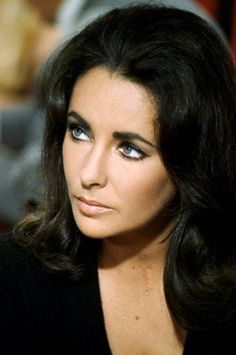 Elizabeth Taylor, 1960's Look. I always knew Liz was a beautiful woman, but this picture just knocks me out - she was gorgeous!!
