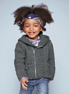 Ravelry.com ~ 13 - Hooded sweater pattern by Bergère de France   ~  4 to 12yrs kintted in 12ply