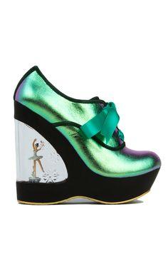 Irregular Choice Hologram Leather Glissade Ballerina Heel | Women Shoes Online | AKIRA