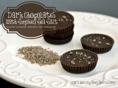Dark Chocolates with Smoked Sea Salt #lowcarb #sugarfree #dairyfree