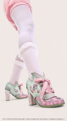 Marie Antoinette heels with removable panel to make them Mary Janes & with a guillotine on the back