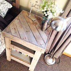 Rustic Bedside Table/Nightstand from Reclaimed by RedBearRustics
