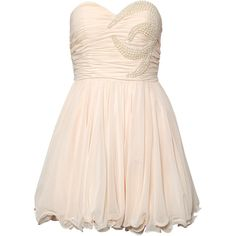 Rare Opulence Chiffon Bandeau Pearl Dress ($80) ❤ liked on Polyvore