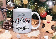 Christmas Hot Chocolate, Diy Christmas Mugs, Personalized Christmas Mugs, Merry Little Christmas, Personalized Mugs, Christmas Images, Christmas Text, Christmas Eve Box, Christmas Coffee