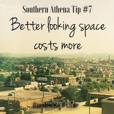 Better looking space costs more #southernathenatips #realestate #sales #Nashville #bestfootforward #investing #design #leasing