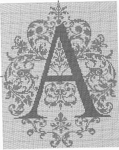 this one for gift Cross Stitch Alphabet, Cross Stitch Charts, Cross Stitch Patterns, Embroidery Stitches, Embroidery Patterns, Letterpress Drawer, Crochet Letters, Cross Stitch Silhouette, River Island Girls