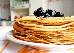 The World Through my Photos: CHERRY JAM PANCAKES Wonderful Picture, Pancakes, My Photos, Cherry, Breakfast, Life, Black, Food, Morning Coffee