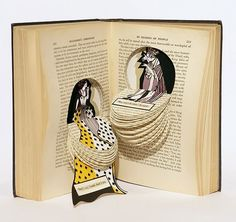 Explore amazing art and photography and share your own visual inspiration! Folded Book Art, Book Folding, Book Sculpture, Paper Sculptures, Altered Book Art, Quirky Art, Book Projects, Clay Projects, Art Graphique