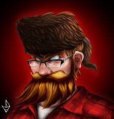 drawing lumberjack