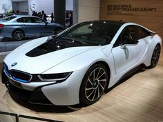 At the 2013 Frankfurt auto show BMW showed off the production plug-in hybrid i8 model, a vehicle using carbon fiber construction that may lead the way for the industry.