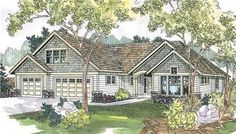 The Cauldwell home plan is a two story, craftsman style house plan with 2875 total living square feet. This craftsman home plan has a rustic ambiance, and panoramic rear views. There is naturally bright in the great room that wraps around the large, partially covered patio. The master suite boasts a luxurious bathroom, plus two closets, one a roomy walk-in.