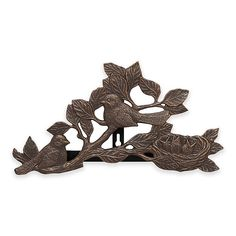 Dress up your garden with this charming Outdoor Hose Holder with a bronze finish, featuring adorable birds in low relief and crafted of hand-cast, rust-proof, recycled aluminum. Allows for easy coiling and holds most garden hoses. Hose Holder, Whitehall Products, Hand Cast, Oil Rubbed Bronze, Outdoor, Outdoors, Outdoor Games, The Great Outdoors, Hose Hanger
