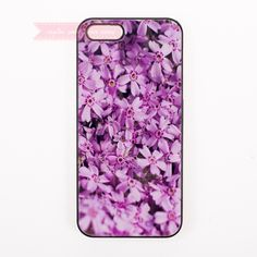 smiling amazing Lilac flower nice Hard Back Cover Phone Case For iphone 4s 5 5s 5c se 6 6S plus 7 7 Plus case lovely flowers