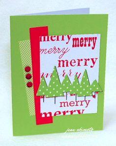 Jean card Merry little trees