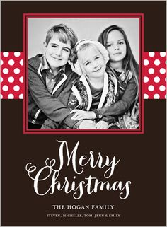 Merry Polka Dots 6x8 Stationery Card by Yours Truly | Shutterfly