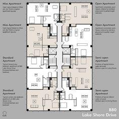 880 Lake Shore Drive - Apartment Plan Possibilities