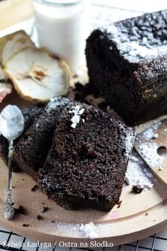 Chocolate Banana Bread, Chocolate Brownies, Chocolate Cakes, Baking Recipes, Cake Recipes, My Favorite Food, Favorite Recipes, Eat Happy, Healthy Sweets
