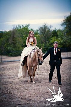 """My horse, Twist, with my beautiful """"adopted"""" daughter, Ashton.  This entrance had everyone speechless... gorgeous and surreal"""