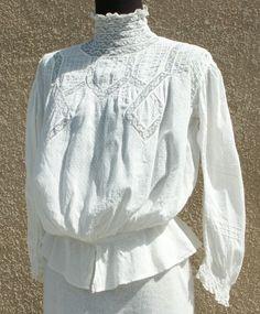 edwardian dotted swiss blouse.