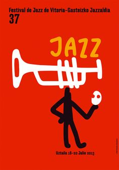 Cartel para el Festival de Jazz de Vitoria-Gasteiz - Kukuxumusu