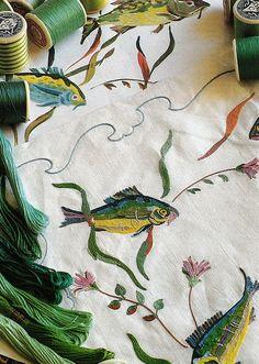 lesage fine hand embroidery - Google Search