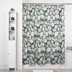 Create A Relaxing And Calming Spa Environment In Your Bathroom With This Pebble Stones Shower Curtain 180 X 180cm 1199
