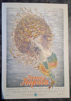 Tame Impala Australia 2012 tour poster
