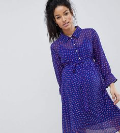 Find the best selection of Mamalicious Polka Dot Tea Dress. Shop today with free delivery and returns (Ts&Cs apply) with ASOS! Maternity Dress Pattern, Maternity Dresses, Pregnancy Stages, Wrap Dress, Asos, Polka Dots, Shirt Dress, Shirts, Tea