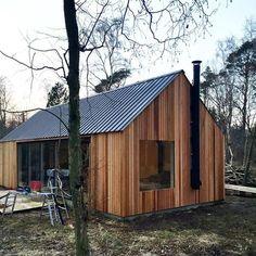 First facades trimmed off. #barnhousecabin #cabin...
