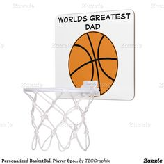 Personalized BasketBall Player Sport Athlete Mini Basketball Hoops.  Designed by TLCGraphix.