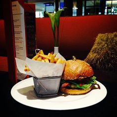 Come try our Cali Burger with havarti cheese, jalapeño bacon, tomato jam, and avocado in 96th Street Bistro!