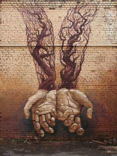 Street Art Hands by Alexander Grebenyuk