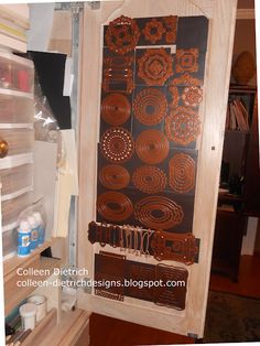 COMPLETED PROJECT 9/2012:  Die Cut Storage:  I have the magnet sheet, the double sided tape, and scrapbook paper to pretty this up...  Go to my blog to see how I did it!  http://solaceamidthechaos.blogspot.com/