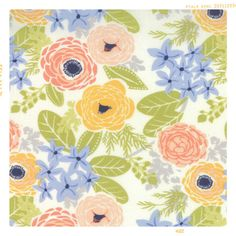 Spring Garden | Cotton Fabric by the Yard – Fleur + Dot