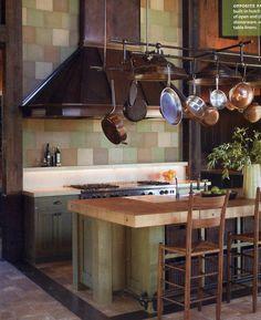 grand kitchen in green
