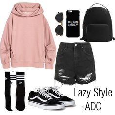 Lazy Style by anatiller on Polyvore featuring Topshop, MANGO, Christian Dior and adidas