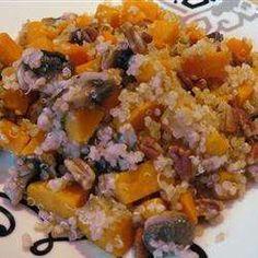 Quinoa aux patates douces et aux champignons