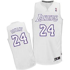 380d8071b76e Kobe Kobe Bryant Authentic In White Adidas NBA Los Angeles Lakers Big Color  Fashion 24 Mens ...