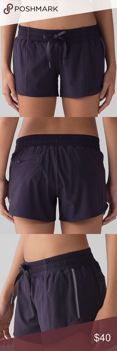 """lululemon shorts """"Hotty hot short"""" shorts in black. I've worn these less than ten times so they're in mint condition. They have the built in panties. They are size 4 tall. I'm on the shorter side (short legged) so they aren't so flattering on me. lululemon athletica Shorts"""
